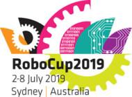 Logotip RoboCup 2019 (logotip tekmovanja v robotiki)