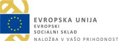 Logotip Evropskega sicialnega sklada, naložba v vašo prihodnost