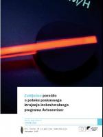 Zaključno poročilo o poteku poskusnega izvajanja izobraževalnega programa Avtoserviser