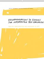 naslovnica publikacije v angleškem jeziku Recommendations to Schools for Implementing Self-evaluation, Quality Identification and Assurance in VET