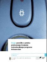 Drugo poročilo o poteku poskusnega izvajanja izobraževalnega programa Avtoserviser