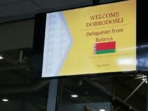 Tabla za dobrodošlico delegaciji iz Belorusije (Welcome delegation from Belarus)