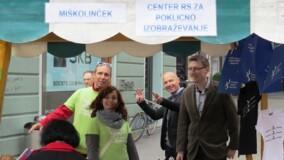 Center RS za poklicno izobraževanje je sobotnim sprehajalcem v Ljubljani predstavljal nacionalne poklicne kvalifikacije