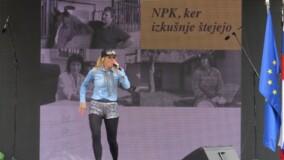Nastop pevke na Paradi učenja 2014