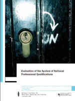 Naslovncia publikacije v angleškem jeziku Evaluation of the System of National Professional Qualifications