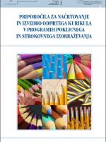 Priporočila za načrtovanje in izvedbo odprtega kurikula v programih poklicnega in strokovnega izobraževanja