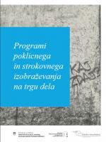 Programi poklicnega in strokovnega izobraževanja na trgu dela