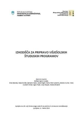 Izhodišča za pripravo višješolskih študijskih programov
