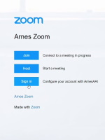 ZOOM - Zoom prijava