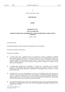 Priporočilo Sveta o poklicnem izobraževanju in usposabljanju za trajnostno konkurenčnost, socialno pravičnost in odpornost