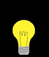 Ilustracije prižgane žarnice, iz katere v obliki cvetov 'rastejo' nove ideje