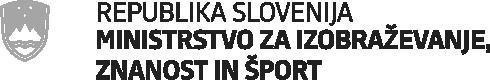 Logotip Ministrstvo za izobraževanje, znanost in šport